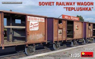 Soviet Railway Wagon Teplushka · MA 35300 ·  Mini Art · 1:35