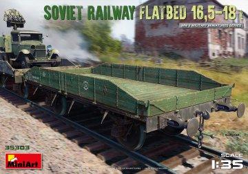Soviet Railway Flatbed 16,5-18 t · MA 35303 ·  Mini Art · 1:35