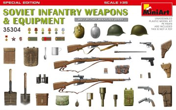 Soviet Infantry Weapons and Equipment - Special Edition · MA 35304 ·  Mini Art · 1:35