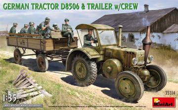 German Tractor D8506 with Trailer & Crew · MA 35314 ·  Mini Art · 1:35