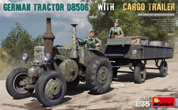 German Tractor D8506 with Cargo Trailer · MA 35317 ·  Mini Art · 1:35