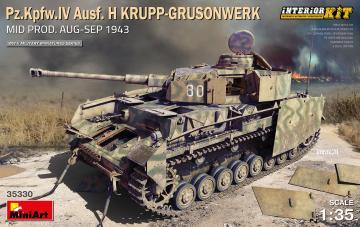 Pz.Kpfw.IV Ausf. H Krupp-Grusonwerk. Mid Prod. (Aug-Sep 1943) - Interior Kit · MA 35330 ·  Mini Art · 1:35