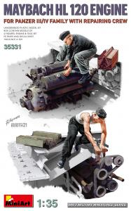Maybach HL 120 Engine for Panzer III/IV Family w/Repair Crew · MA 35331 ·  Mini Art · 1:35