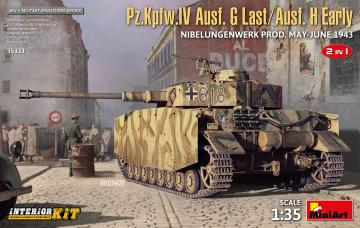 Pz.Kpfw.IV Ausf.G-Last/H-Early - Nibelungenwerk Prod (May-June1943) 2in1 · MA 35333 ·  Mini Art · 1:35