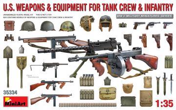 U.S. Weapons & Equipment for Tank Crew & Infantry · MA 35334 ·  Mini Art · 1:35