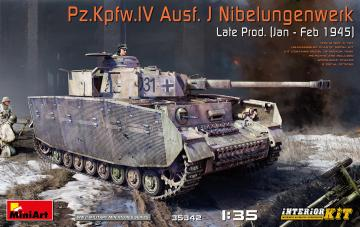 Pz.Kpfw.IV Ausf. J Nibelungenwerk Late Prod. (Jan - Feb 1945) - Interior Kit · MA 35342 ·  Mini Art · 1:35