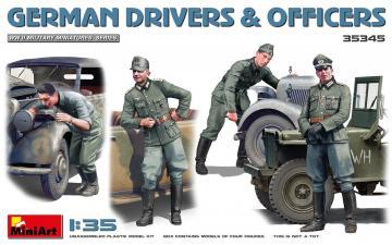 German Drivers & Officers · MA 35345 ·  Mini Art · 1:35