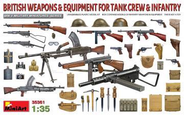 British Weapons & Equipment for Tank Crew & Infantry · MA 35361 ·  Mini Art · 1:35