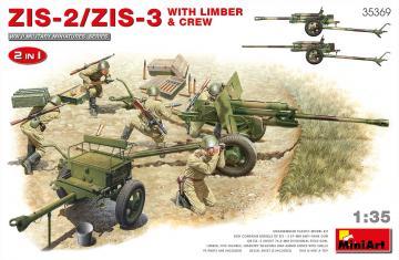 ZIS-2/ZIS-3 With LIMBER & CREW. 2 IN 1 · MA 35369 ·  Mini Art · 1:35