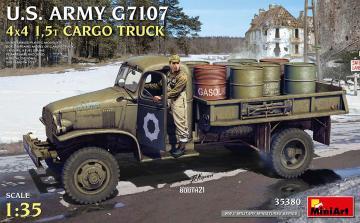 U.S. Army G7107 - 4x4 1,5t Cargo Truck · MA 35380 ·  Mini Art · 1:35