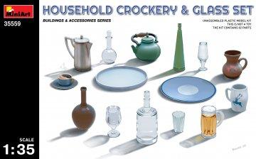 Household Crockery & Glass Set · MA 35559 ·  Mini Art · 1:35
