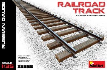 Railroad Track (Russian Gauge) · MA 35565 ·  Mini Art · 1:35