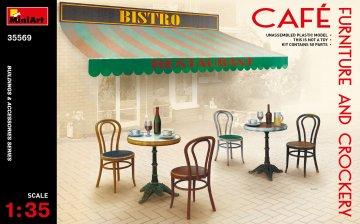 Café Furniture & Crockery · MA 35569 ·  Mini Art · 1:35
