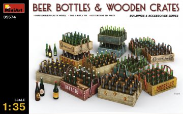 Beer Bottles & Wooden Crates · MA 35574 ·  Mini Art · 1:35