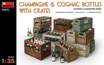 Champagne & Cognac Bottles w/Crates · MA 35575 ·  Mini Art · 1:35