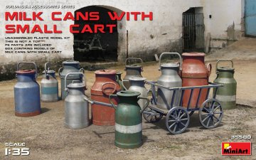 Milk Cans with Small Cart · MA 35580 ·  Mini Art · 1:35