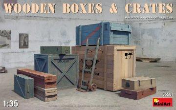 Wooden Boxes & Crates · MA 35581 ·  Mini Art · 1:35
