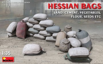 Hessian Bags (sand, cement, vegetables) · MA 35586 ·  Mini Art · 1:35