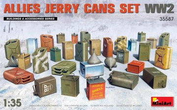 Allies Jerry Cans Set WW2 · MA 35587 ·  Mini Art · 1:35