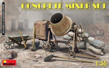 Concrete Mixer Set · MA 35593 ·  Mini Art · 1:35