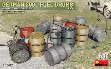 German 200L Fuel Drum Set WW2 · MA 35597 ·  Mini Art · 1:35