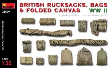 British Rucksacks, Bags & Folded Canvas WW2 · MA 35599 ·  Mini Art · 1:35