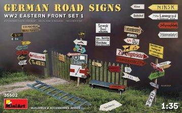German Road Signs WW2 (Eastern Front Set 1) · MA 35602 ·  Mini Art · 1:35