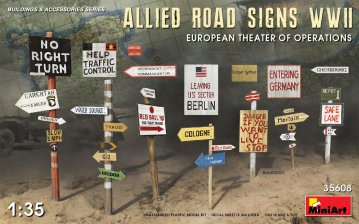 Allied Road Signs WWII. European Theatre of Operations · MA 35608 ·  Mini Art · 1:35