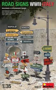 Road Signs WWII Italy · MA 35611 ·  Mini Art · 1:35