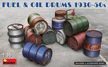 Fuel & Oil Drums - 1930-50s · MA 35613 ·  Mini Art · 1:35