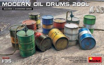 Modern Oil Drums (200l) · MA 35615 ·  Mini Art · 1:35