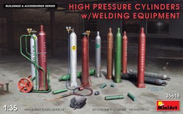High Pressure Cylinders w/Welding Equipment · MA 35618 ·  Mini Art · 1:35