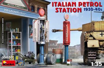 Italian Petrol Station 1930-40s · MA 35620 ·  Mini Art · 1:35