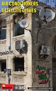 Air Conditioners & Satellite Dishes · MA 35638 ·  Mini Art · 1:35