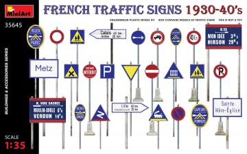 French Traffic Signs 1930-40s · MA 35645 ·  Mini Art · 1:35