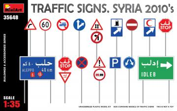 Traffic Signs. Syria 2010´s · MA 35648 ·  Mini Art · 1:35
