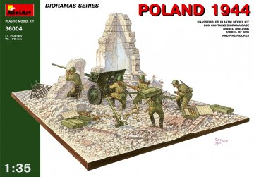 Polen 1944 mit Russischer Artillerie · MA 36004 ·  Mini Art · 1:35