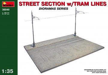 Straßenabschnitt mit Straßenbahn · MA 36040 ·  Mini Art · 1:35