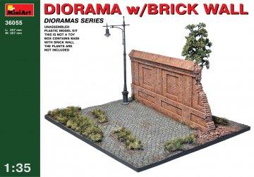 Diorama with Brick Wall · MA 36055 ·  Mini Art · 1:35