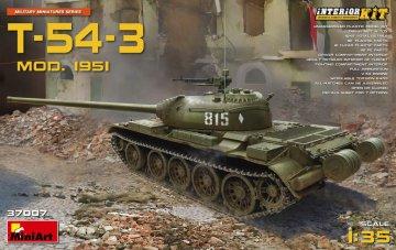 T-54-3 Mod.1951 Interior Kit · MA 37007 ·  Mini Art · 1:35