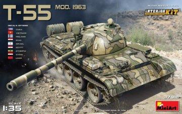 T-55 Modell 1963 Interior Kit · MA 37018 ·  Mini Art · 1:35