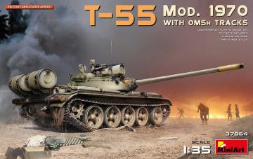T-55 Mod. 1970 w/OMSh Tracks · MA 37064 ·  Mini Art · 1:35