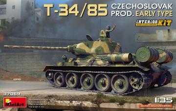T-34/85 Czechoslovak Prod. Early Type - Interior Kit · MA 37069 ·  Mini Art · 1:35