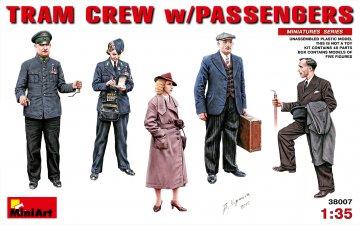 Tram Crew with Passengers · MA 38007 ·  Mini Art · 1:35