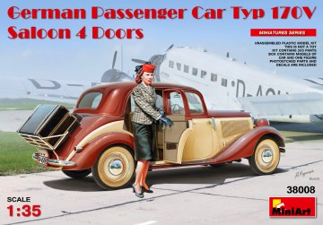 German Passenger Car Typ 170V.Saloon 4 4 Doors · MA 38008 ·  Mini Art · 1:35
