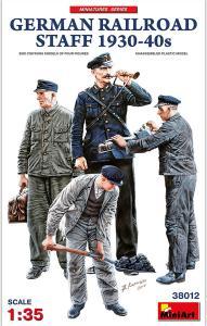 German Railroad Staff 1930-40s · MA 38012 ·  Mini Art · 1:35
