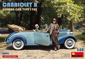 Cabriolet B German Car Type 170V · MA 38018 ·  Mini Art · 1:35