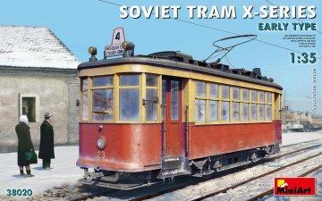 Soviet Tram X-Series - Early Type. · MA 38020 ·  Mini Art · 1:35