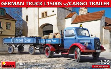 German Truck L1500S w/ Cargo Trailer · MA 38023 ·  Mini Art · 1:35