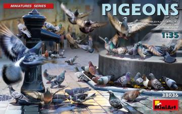 Tauben / Pigeons · MA 38036 ·  Mini Art · 1:35